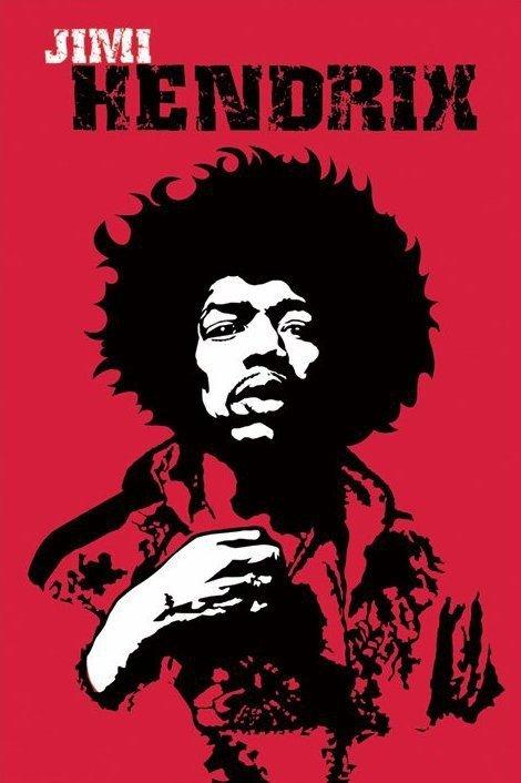 Hendrix (czerwony) - plakat