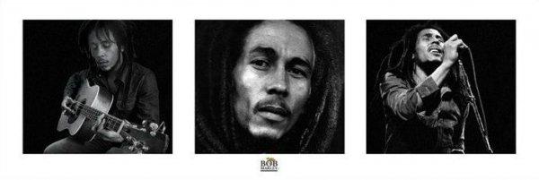 Bob Marley (b&w) - plakat