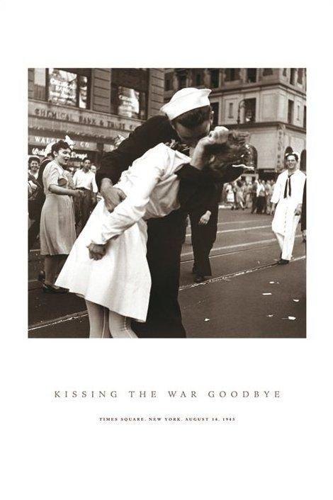 Kissing the war goodbay  - plakat