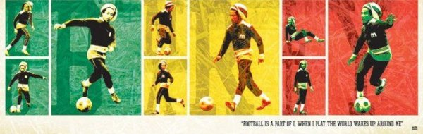 Bob Marley (football) - plakat