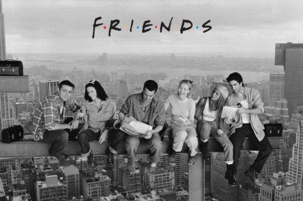 Przyjaciele (Lunch On A Skyscraper)  - plakat