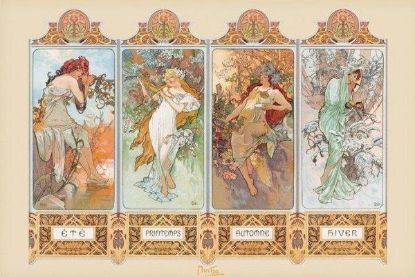 Mucha (4 Seasons) - plakat