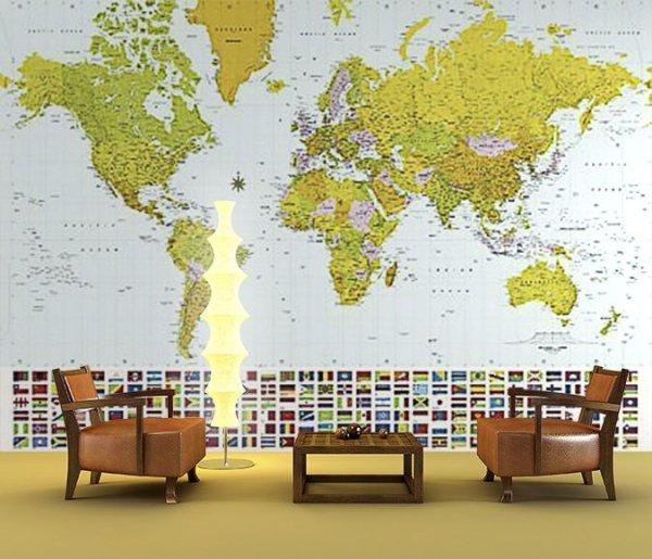 Fototapeta  Mapa Świata 2007 - sklep decoart24.pl