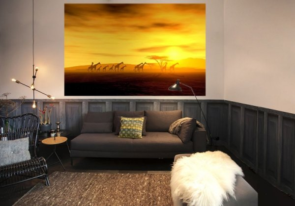 Fototapeta na ścianę - Safari, żyrafy - 175x115 cm