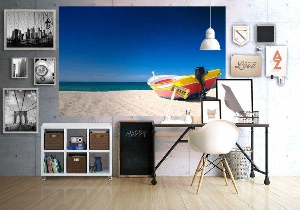 Fototapeta na ścianę - Kolorowa łódź rybacka - 175x115 cm