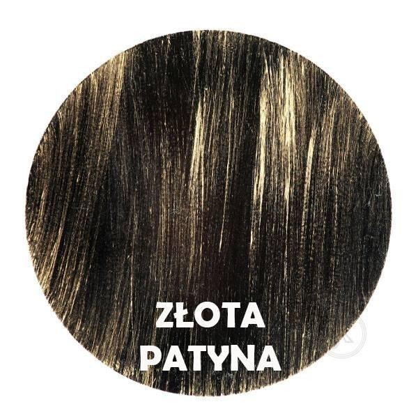 Złota patyna - Kolor kwietnika - Wąsy - Tuba na kwiaty - stojak - DecoArt24.pl