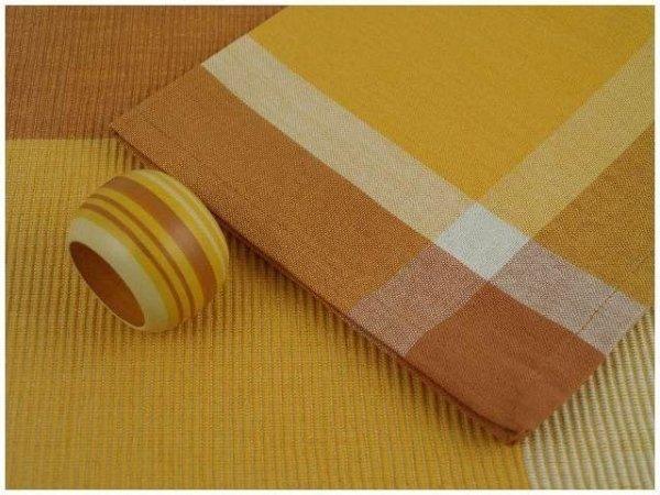 Podkładki na stół - Serwetki + Obrączki na serwetki x 4-szt - Pomarańcz