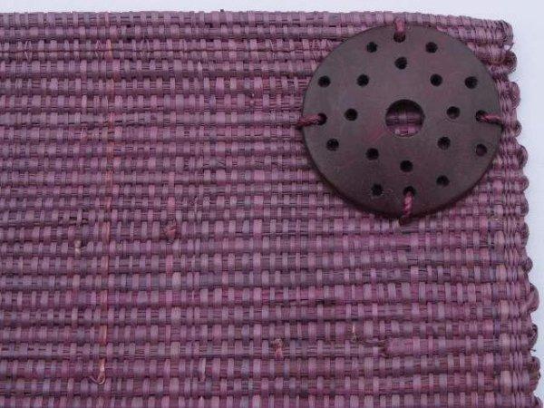 Podkładka na stół (4szt./op) - Śliwka - Z rafii - 33x48cm