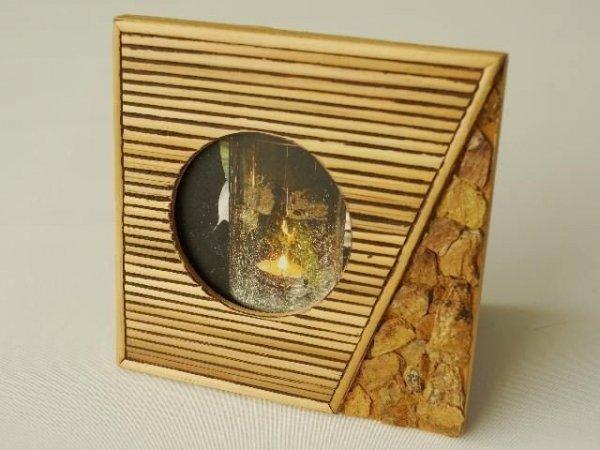 Ramka na zdjęcia - Kamień - 15x15cm