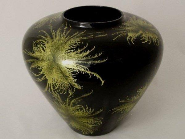 Wazon ceramiczny - Czarno-Zielony - 31x27,5cm