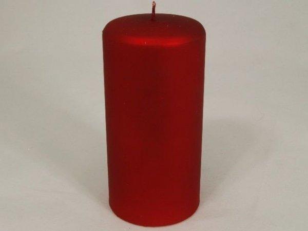 Świeca ozdobna - Velvet Czerwień - 7x15cm