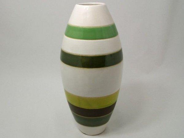 Wazon ceramiczny - Zieleń - 17x37cm