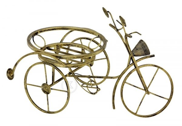 Kwietnik metalowy - Stojak na kwiaty - Rower mały