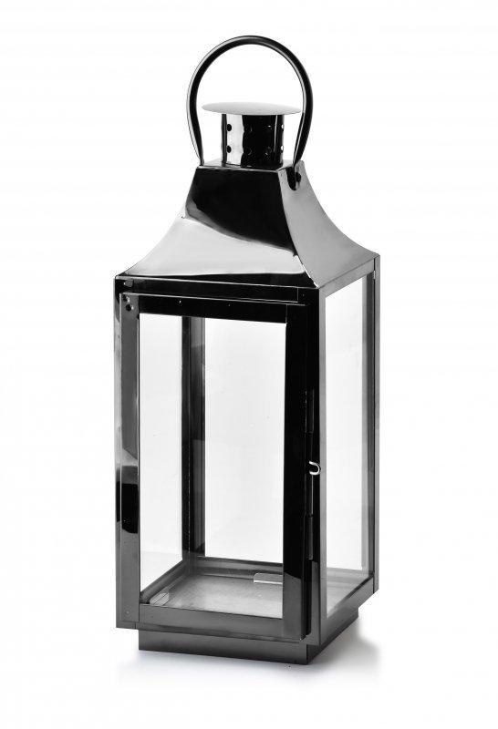 Latarenka metalowa - Lampion czarny - 38cm - dodatki do domu i ogrodu - decoart24.pl
