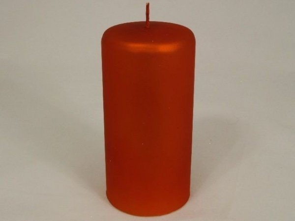 Świeca ozdobna - Walec velvet - 7x15cm