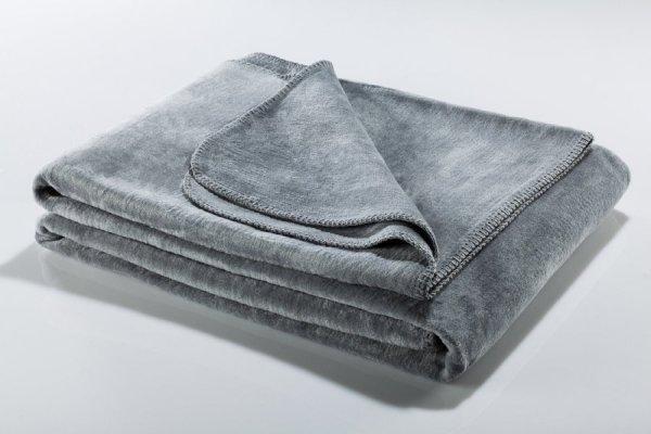 Koc - Szary - 130x180 cm - SoftLine Silver