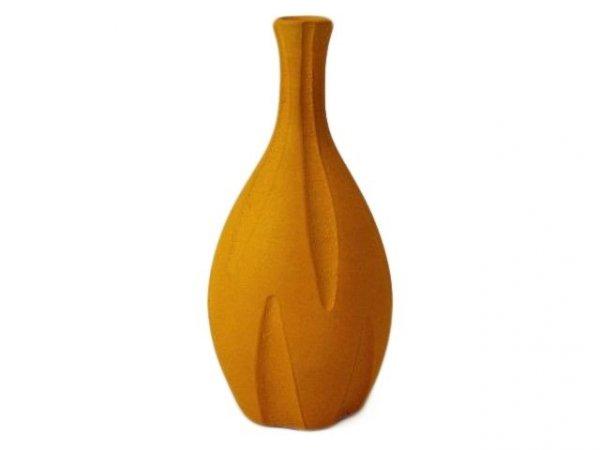 Wazon ceramiczny - Pomarańczowy - 16,5x35cm