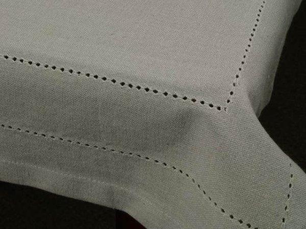 Obrus na stół - Chłodny Beż - 100% Bawełny - 140x140cm