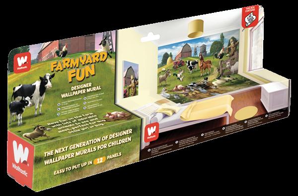Fototapeta dla dzieci - Farmyard Fun 2 - 3D - Walltastic