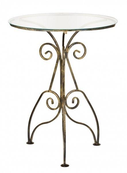 Stolik metalowy - Szklany - Sklep