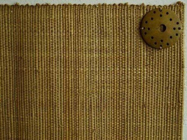 Podkładki na stół - Z rafii - 33x48cm - Musztardowe (4szt.)
