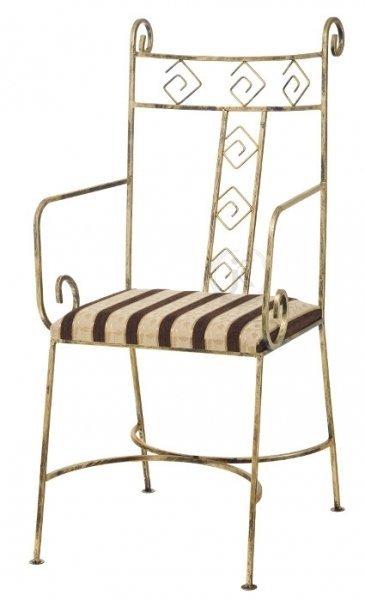 Krzesło metalowe, ozdobne - Sklep