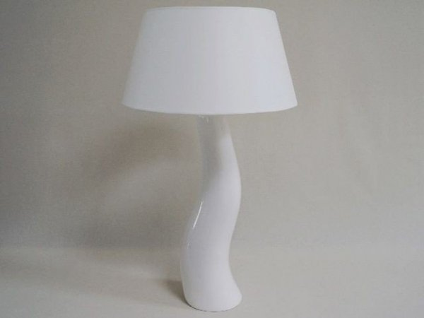Lampa stołowa - Biała Fala - 48x84cm