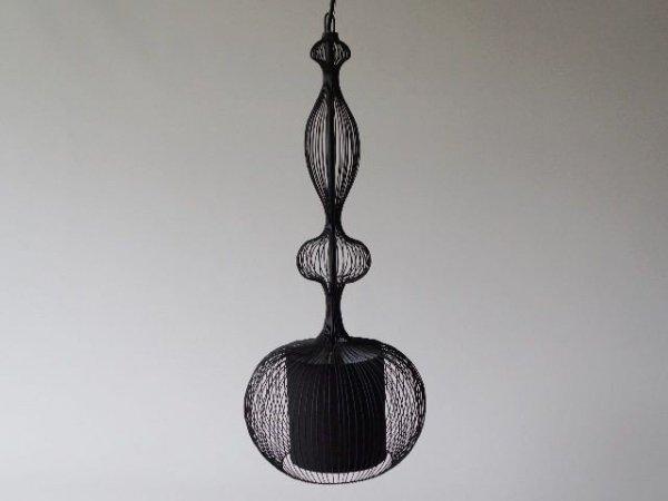 Lampa wisząca - Ażurowa czarna -  24x59cm