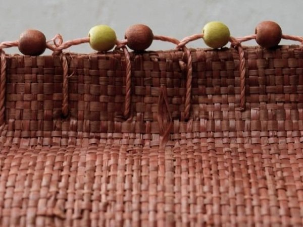 Poszewka na poduszkę - Ruda - Z rafii - 45x45cm