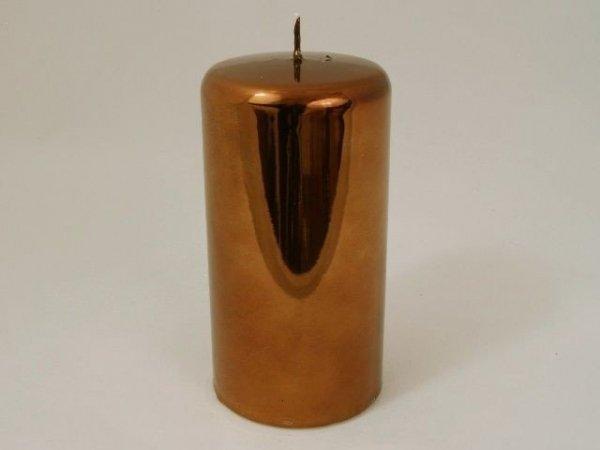 Świeca ozdobna - Walec metallic - 8x15cm