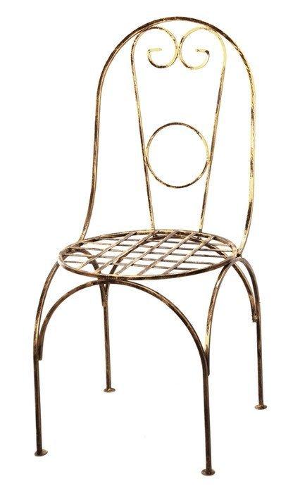 Krzesło metalowe - Dekoracyjne - Sklep