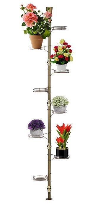 Kwietnik metalowy - Stojak na kwiaty - Rozporowy 8