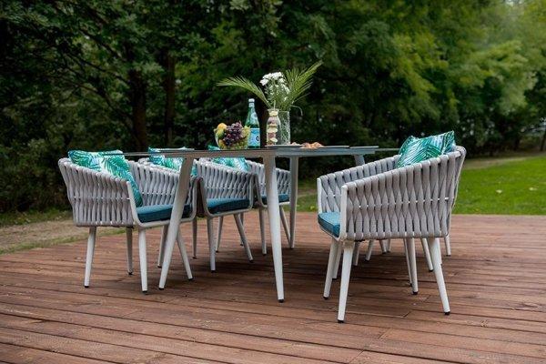 Meble obiadowe - Corda - Stół, 6 Krzeseł - Dekoracje do ogrodu Decoart24.pl