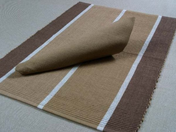 Podkładki na stół + Serwetki x 4-szt - Kawa 100 % Bawełna