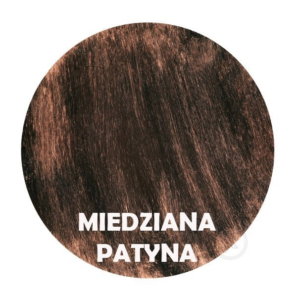 Miedziana patyna - kolor metalu - Kwietnik metalowy - DecoArt24.pl