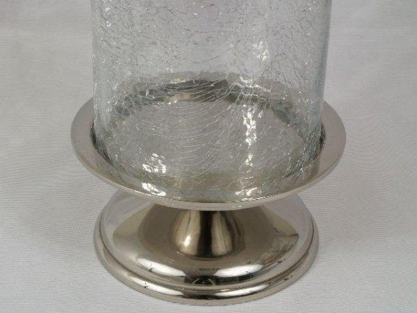Świecznik - Szkło - 12,5x10,5x26cm