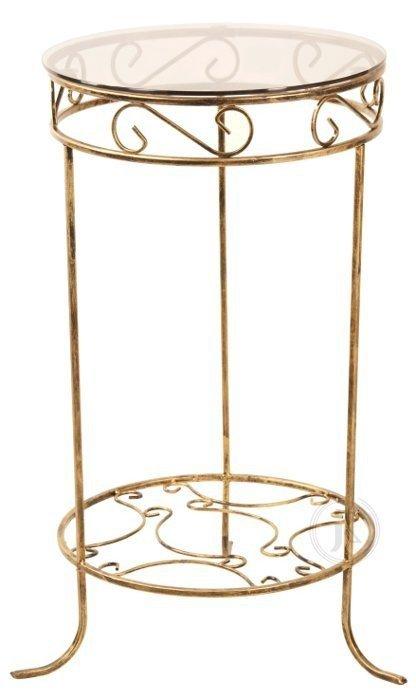 Stolik szklany - Kawowy - Okrągły