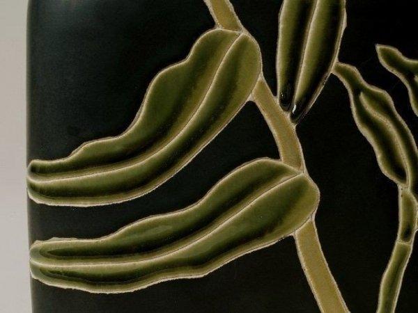 Wazon ceramiczny - Listki Bambusowe - 20x6,5x22cm
