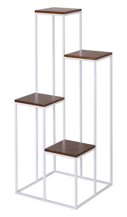 Kwietnik metalowy 4ka - Stojak wielofunkcyjny - Metaloplastyka 112cm - kolory