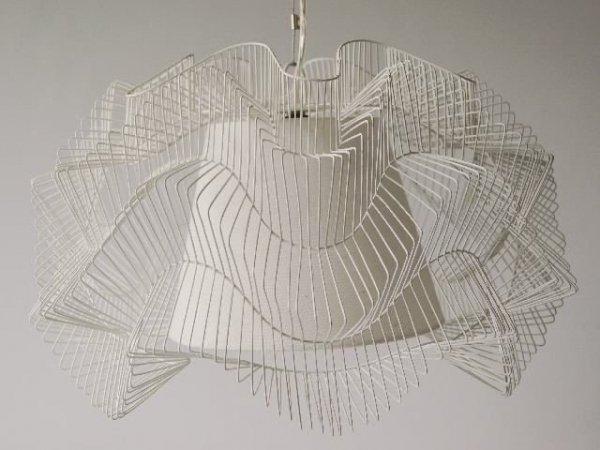 Lampa sufitowa - Biała - 45x27cm