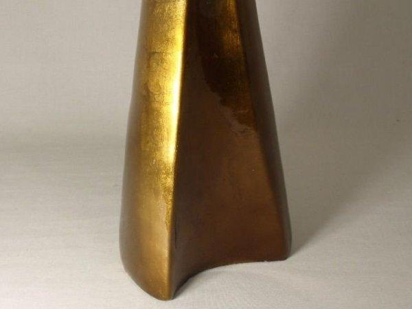 Wazon ceramiczny - Złoty -  20x17x54cm