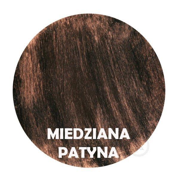 Miedziana patyna - kolorystyka metalu - Kwietnik narożny - Sklep Decoart24.pl
