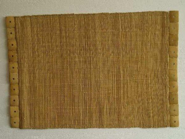 Podkładka na stół - Musztardowa - Z rafii - 33x48cm