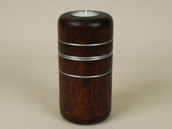 Świecznik - Drewno Mango - 8x15cm