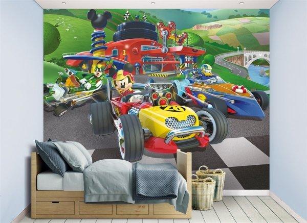 Aranżacja - Fototapeta dla dzieci - Myszka Miki Racers- 3D - Walltastic - 244x305 cm - Dekoracje na ścianę - Sklep DecoArt24.pl