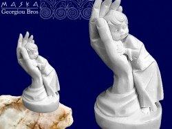 Figurka Alabastrowa Chłopiec w Dłoni