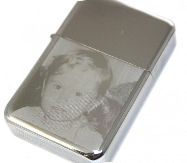 Zapalniczka Benzynowa GRAWER Zdjęcie Prezent Niego Taty Chłopaka