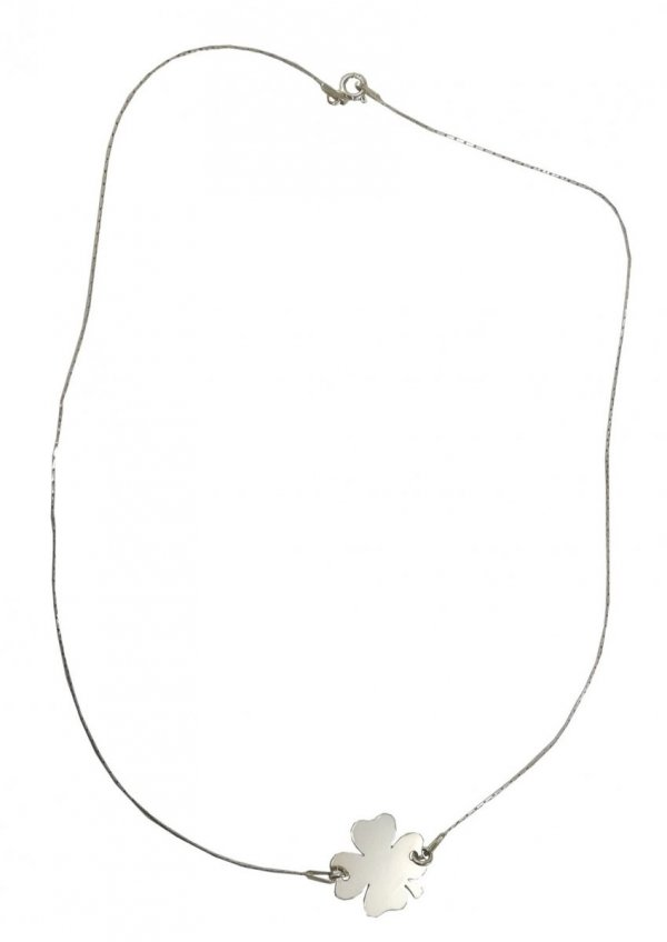 Wisiorek Koniczynka 42cm Srebro +GRAWER