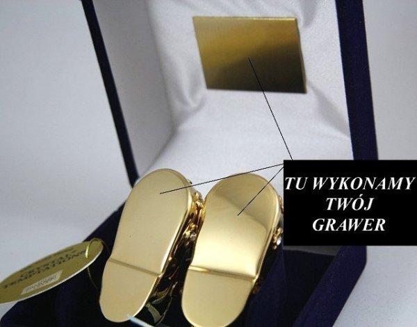 Buciki Swarovski Niebieskie Etui +GRAWER Chrzest Niskie
