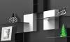 Zestaw 2 maskownice do kabli szklana półka Meliconi GHOST CUBES BIANCO biały